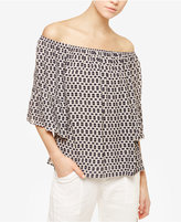 Sanctuary Off-The-Shoulder Printed Top