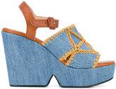Robert Clergerie platform sandals - women - Cotton/Leather - 36