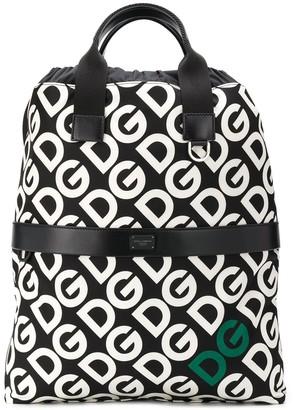 Dolce & Gabbana logo drawstring backpack