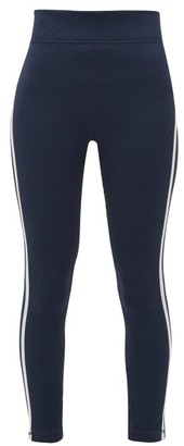 The Upside Sonia Diamond-jacquard Jersey Leggings - Womens - Navy
