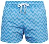 FRESCOBOL CARIOCA Sports Copacabana-print swim shorts