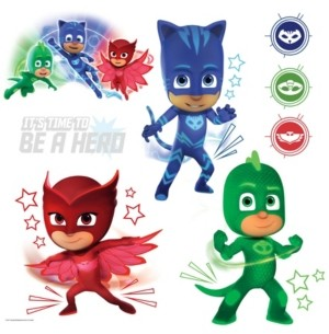 York Wall Coverings Pj Masks with Glow Peel and Stick Wall Decals