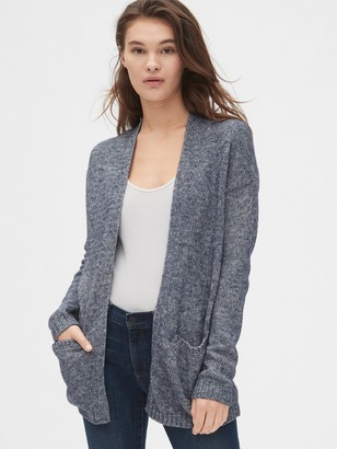 Gap Marled Open-Front Cardigan Sweater