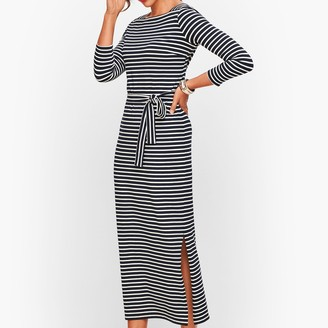 Talbots Jersey Maxi Dress - Stripe