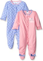 Gerber Baby Girls 2 Pack Zip Front Sleep 'N Play