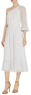 ML Monique Lhuillier One-Shoulder Dress
