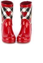 Burberry checked print rain boots