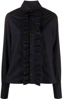 Saint Laurent Ruffled-Detail Long-Sleeved Shirt