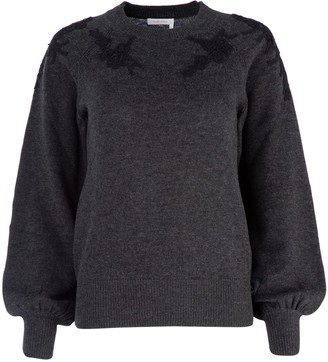 See by Chloe Embroidered Crewneck Sweater