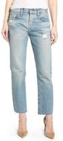 Current/Elliott Women's The Crossover High Waist Straight Leg Jeans