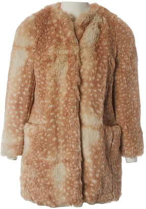 Miu Miu Brown Faux fur Coat for Women