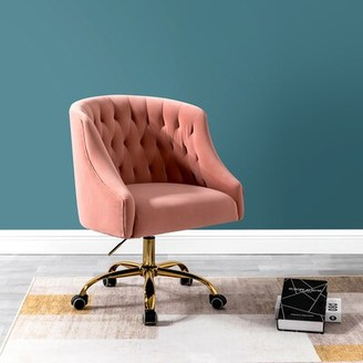 Everly Quinn Pennell Task Chair Upholstery Color: Pink