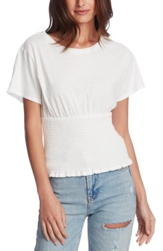 1 STATE Smocked Waist Top