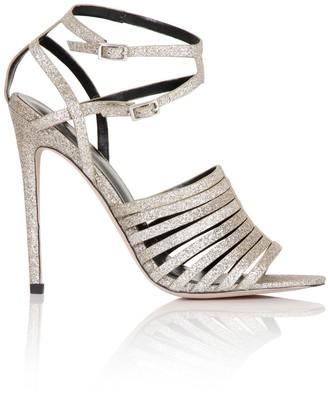 Little Mistress Footwear Gold Glitter Strappy Heel
