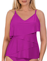 Magicsuit Solid Chloe Tiered Tankini Top