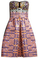 Mary Katrantzou Metallic Circle-jacquard Dress - Womens - Pink Multi