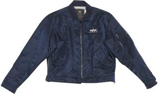 Alpha Industries Navy Synthetic Jackets