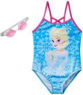 Disney Disney's Frozen Elsa Girls 4-6x Snowflakes One-Piece Swimsuit