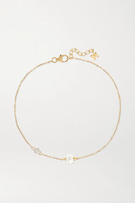 Mateo 14-karat Gold, Pearl And Diamond Bracelet - one size