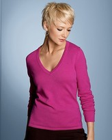 Exclusive Women's 2-Ply Cashmere V-Neck Sweater