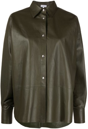 Loewe Loose-Fit Leather Shirt