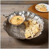 Twos Company Two's Company Tozai Home Grape Leaf Chip & Dip Set - Silver