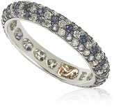 LeVian Suzy Sterling Silver Sapphire & Created Sapphire Pave Eternity Band