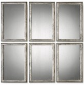 Uttermost Alcona 3-Pc. Antiqued Silver Mirror Set