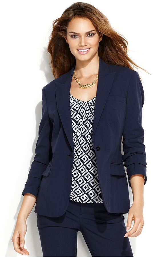 INC International Concepts Jacket, Peaked-Lapel Suiting Blazer