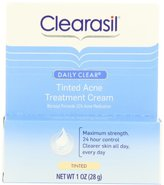 Clearasil Daily Clear Tinted Acne Treatment Cream, 1 Ounce (Pack of 3)