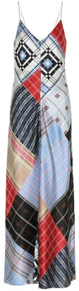 Ganni Stretch-silk satin slip dress