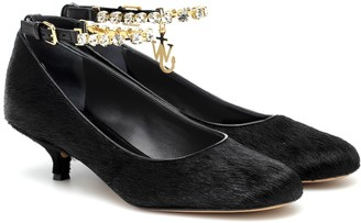 J.W.Anderson Embellished calf-hair pumps
