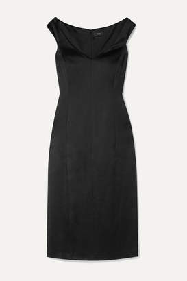 Theory Duchesse-satin Midi Dress - Black