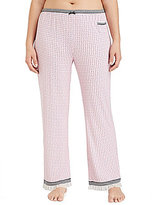 Kensie Plus Geometric Jersey Sleep Pants