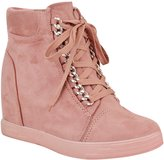 Fashion Thirsty Womens Mid Heel Wedge High Top Ankle Sneakers Lace Up Trainers Boots Size 9