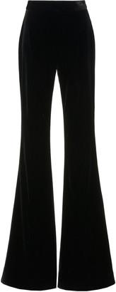 Brandon Maxwell Velvet Wide-Leg Pants