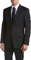 Versace Wool Suit With Flat Front Pant