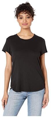 Splendid Abbie Short Sleeve Modal Jersey Crew Tee (Black) Women's T Shirt