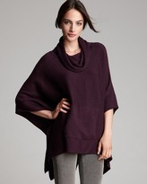 Eileen Fisher Funnel Neck Poncho Top