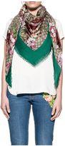 Gucci Sand/pink/green Geri Gg Blooms Scarf