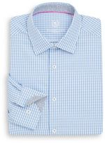 Bugatchi Shaped-Fit Checked Cotton Dress Shirt