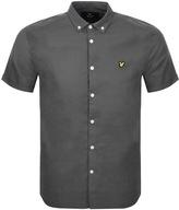 Lyle & Scott Short Sleeved Oxford Shirt Green
