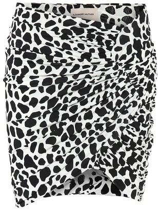 Alexandre Vauthier Exclusive to Mytheresa Animal-print stretch-jersey miniskirt
