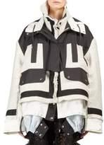 Sacai Colorblock Tweed Puffer Coat