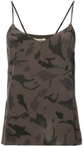 L'Agence camouflage print camisole - women - Silk - S