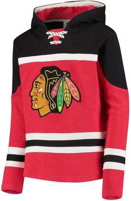 Outerstuff Youth Red Chicago Blackhawks Asset Lace-Up Pullover Hoodie