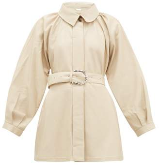Dodo Bar Or Berry Spread-collar Leather Jacket - Womens - Ivory