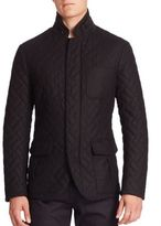 Giorgio Armani Cashmere Blend Quilted Jacket