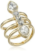 BCBGeneration Pear and Round Crystal Spiral Band Ring, Size 7