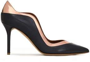 Malone Souliers Penelope Matte And Metallic Leather Pumps
